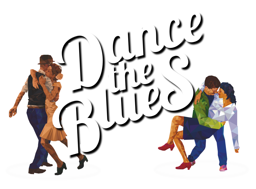 Dance the Blues Logo with Dancers